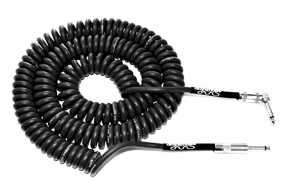 Divine Noise 9m Curly Cable Black (ST-RA)