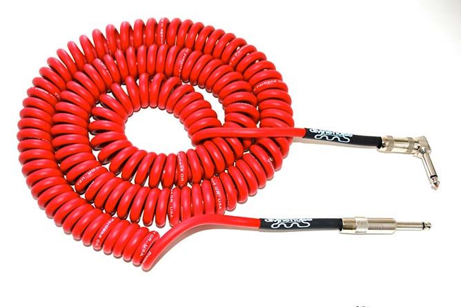 Divine Noise 9m Curly Cable Red (ST-RA)