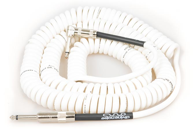 Divine Noise 9m Curly Cable Glossy White (ST-RA)