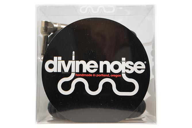 Divine Noise 9m 50/50 Cable Black (ST-RA) - Right Angle on curly end