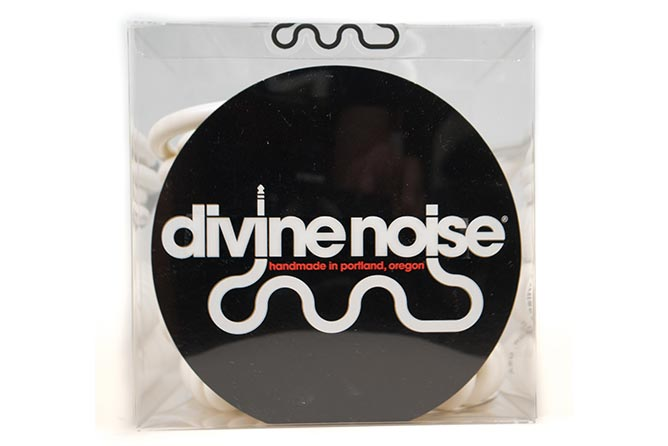 Divine Noise 9m 50/50 Cable Glossy White (ST-RA) - Right Angle on curly end