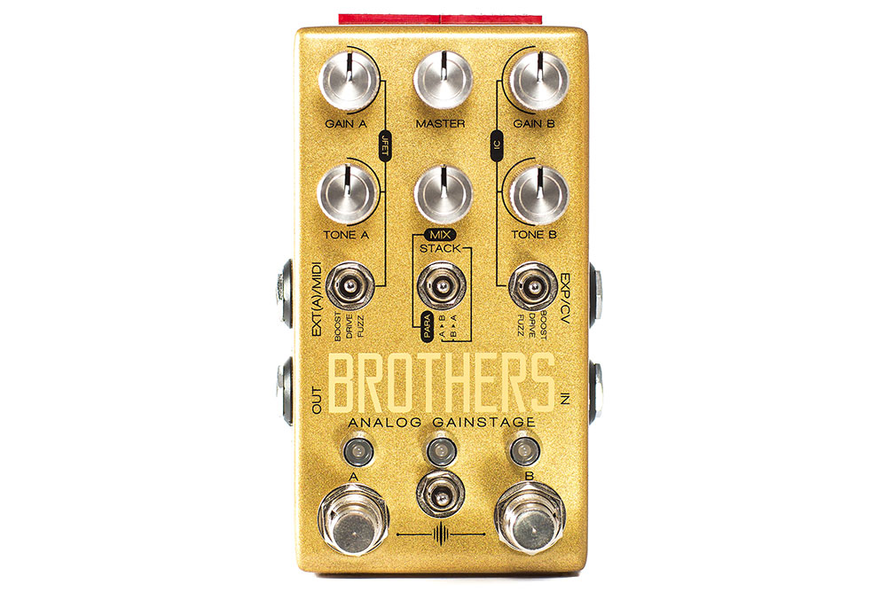 Chase bliss audio brothers analog gainstage fuzz monster for Property brothers bliss